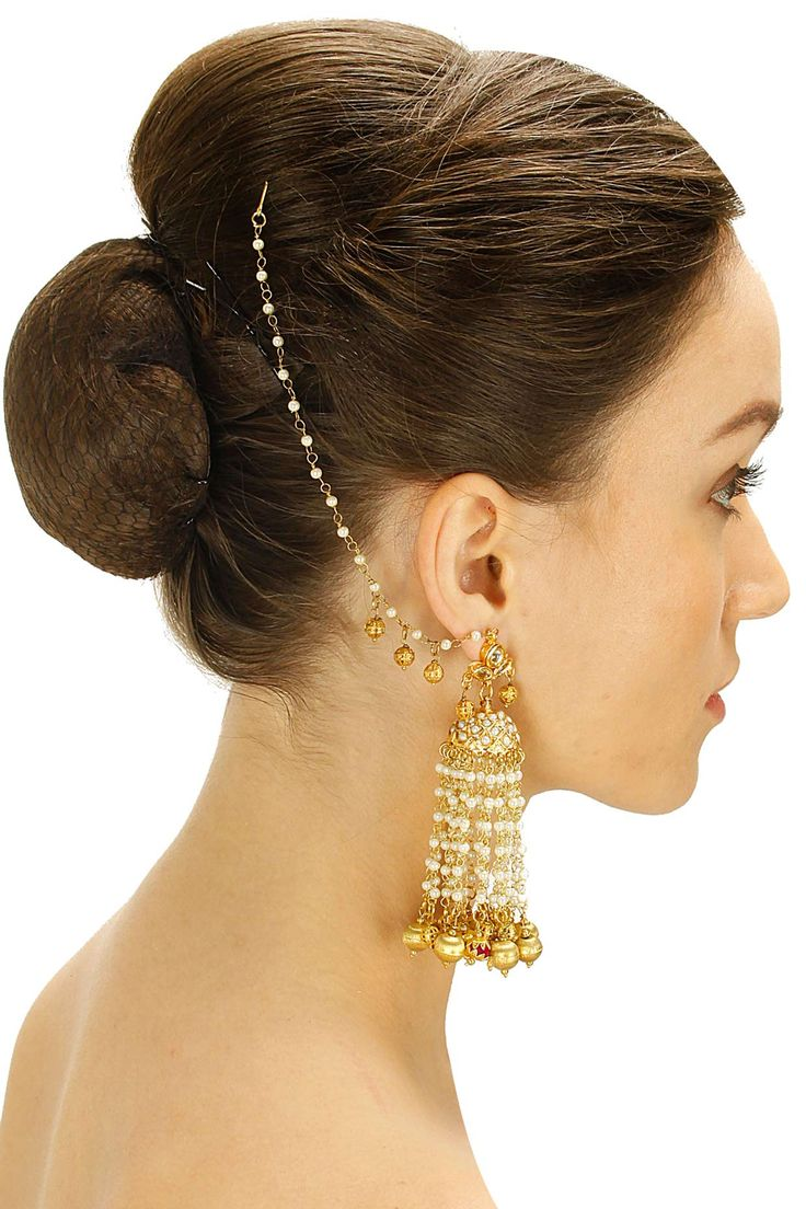 Gold plated pink pompom jhumki earrings by Soranam. Shop now: www.perniaspopups.... #jhumki #earrings #pretty #designer #soranam #chic #accessories #shopnow #perniaspopupshop #happyshopping