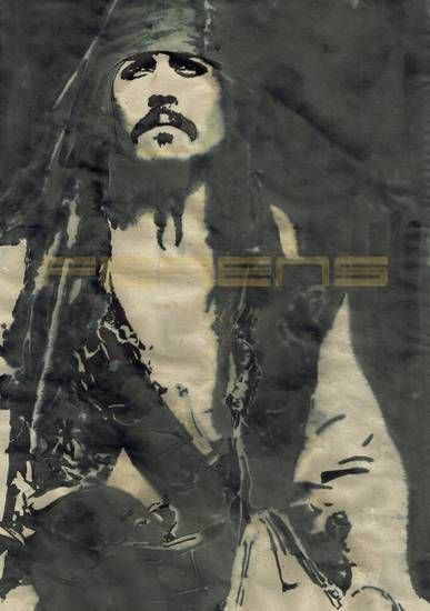 ferens design , rysunek , grafika , ilustracje , JOANNA FERENS - HOFMAN , JOHNNY DEPP , PIRACI Z KARAIBÓW , THE PIRATES OF THE CARIBBEAN , JACK SPARROW