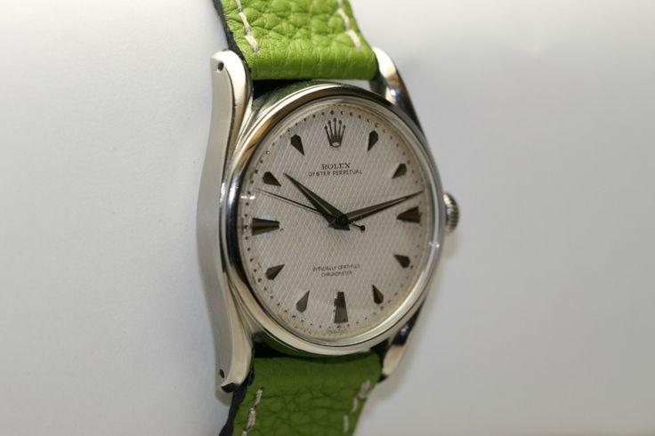 Rolex Stainless Steel Bombé Wristwatch Ref 5018 circa 1960s 3