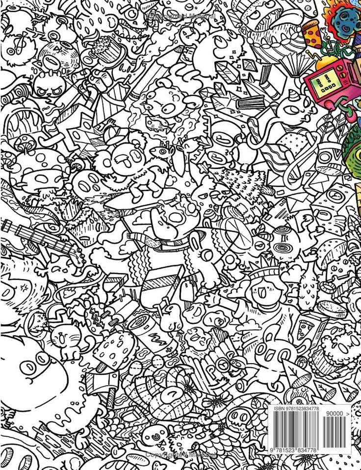 Doodles In Outer Space Coloring Book