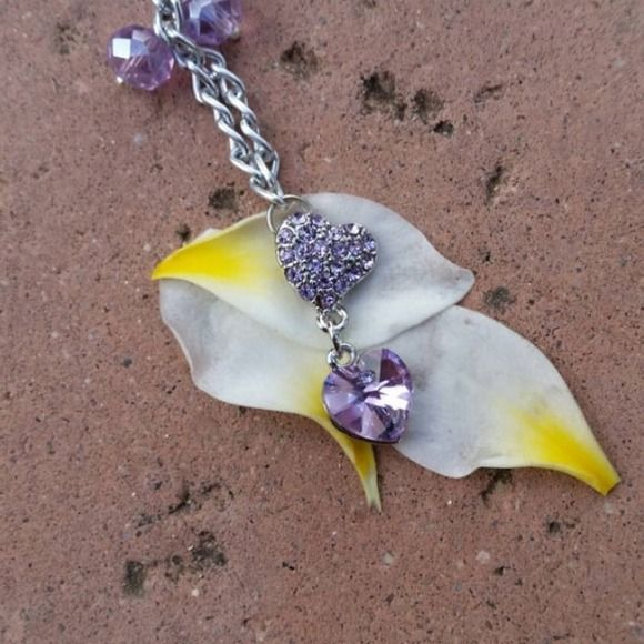 Purple Swarovski Heart Pendant Necklace Beautiful, any questions just ask! CreationCentral  Jewelry Necklaces