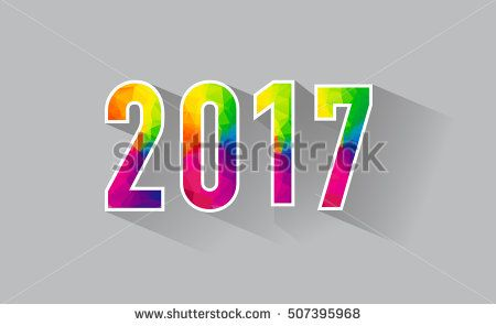 Happy New Year 2017 design background. Calendar template vector elements for calendar and greeting card