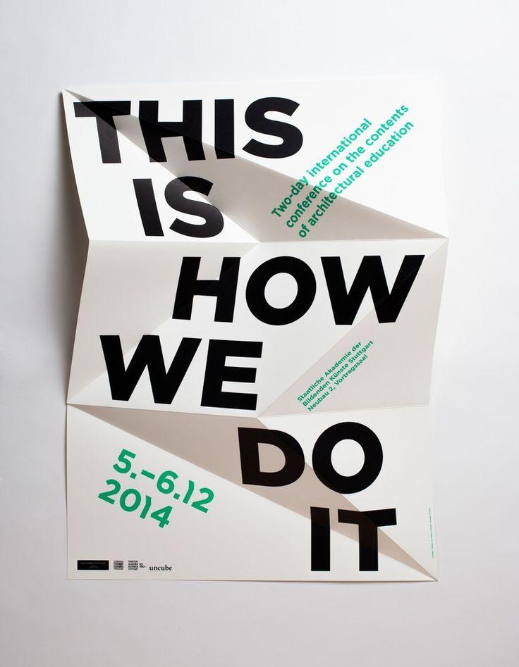 Autour de l'idée de libre développement, ils ont pensé cette affiche typographique en relief qui par sa forme illustre la démarche éducative de l'école. La surface du supports a également et utilisée pour effectuer des projections mapping.