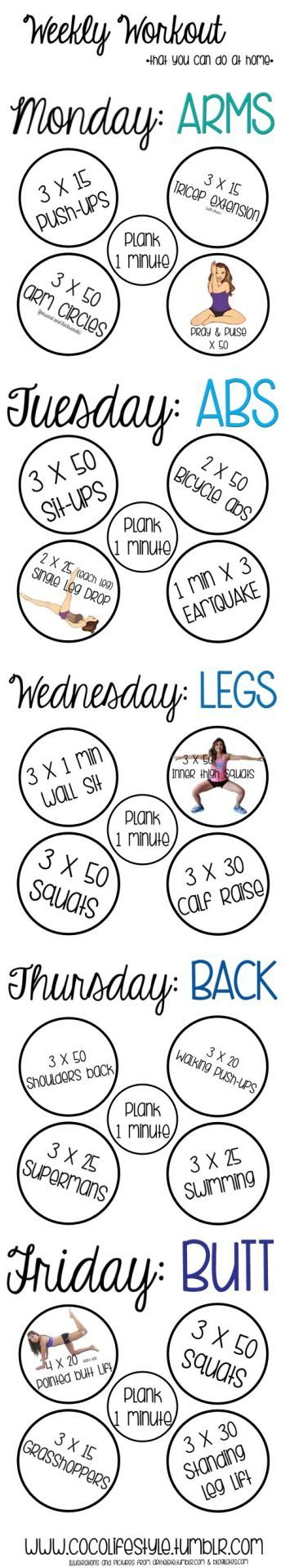 Best  Weekly Workout Plans Ideas On   Weekly Workout