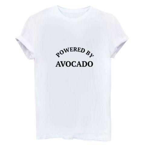 Powered by avocado Tshirt white
