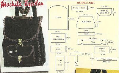Sana Adicción: Bolsos y carteras en cuero y crochet