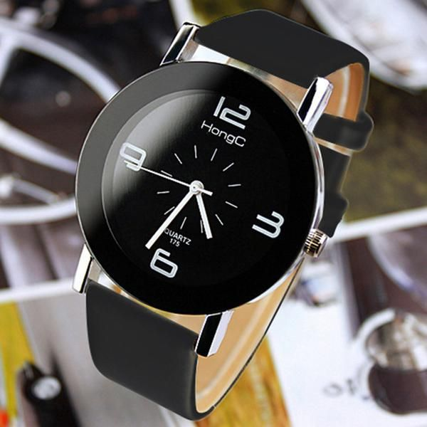 YAZOLE Wristwatch Unique Leather Watchband Women Quartz Watch