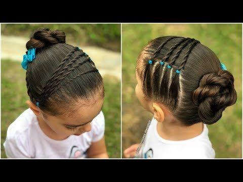 Trenza francesa con ligas|Peinados fáciles y rápidos para niñas|LPH - YouTube