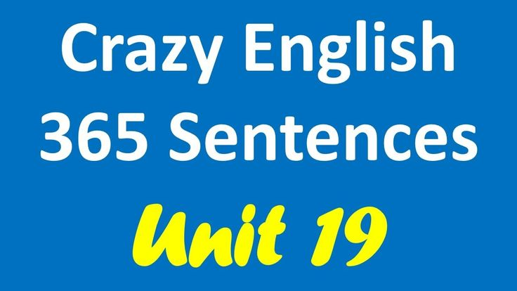 Crazy English 365 Sentences | Learn English By Listening - Unit 19