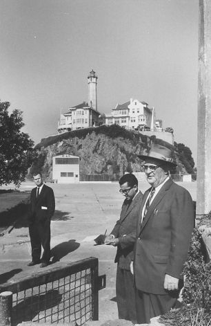 Warden Paul Madigan works Alcatraz in 1958. The prison closed on March 21, 1963.