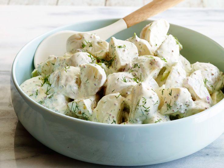 Kapros újburgonya-saláta, nagyon ínycsiklandó! Nem a hagyományos recept!