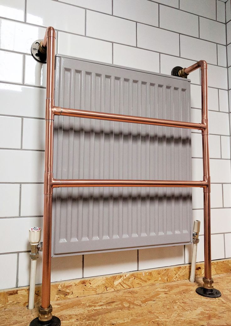 This Stunningly Designed Copper Radiator Towel Rack Is Crafted From Pure Copper