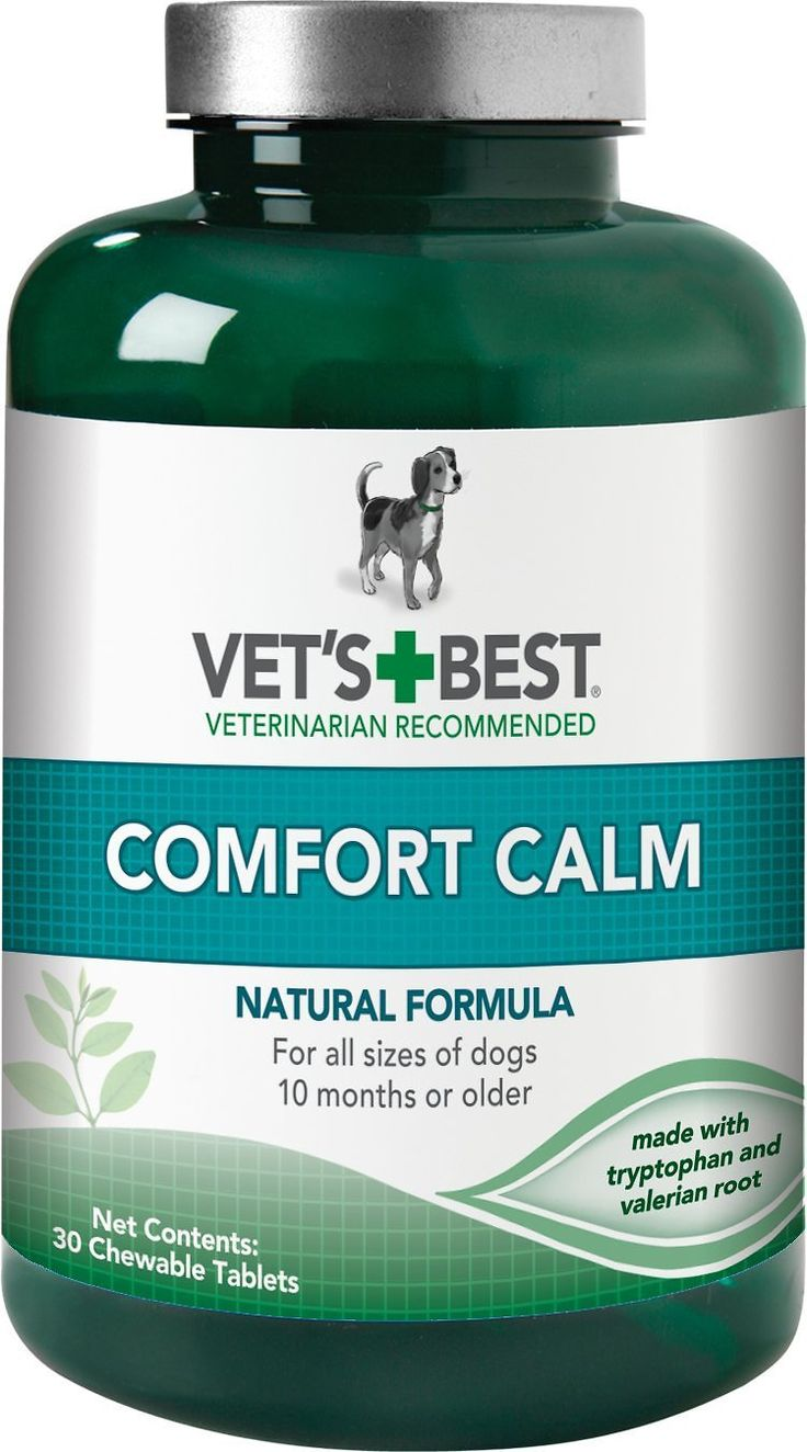 Vet's Best Comfort Calm supplement for dogs helps ease and reduce anxiety and tension from everyday stresses. Vet's Best calming aid for dogs use key natural ingredients (tryptophan and valerian root) helps your pet calm and relaxed. Perfect large breed dogs and small breed dogs 10 months and older. Can be given every 6 to 8 hours (use as directed).