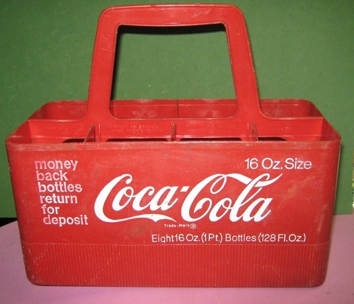 VINTAGE COCA-COLA 16 OZ. BOTTLE HOLDER/CARRIER-8 packVintage Cocacola, Cocacola Stu