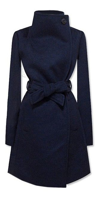Navy wool coat //