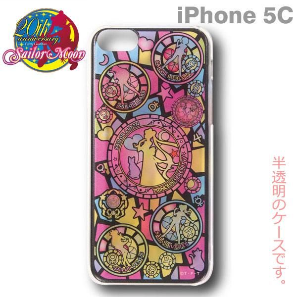 Sailor Moon Character Hard iPhone 5c Case (Stained glass pattern) - Click Image to Close