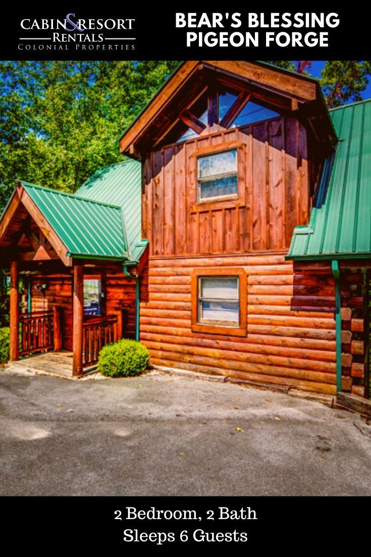 Bear S Blessing In 2020 With Images Cabin Pigeon Forge Cabin Rentals Smoky Mountain Cabin Rentals