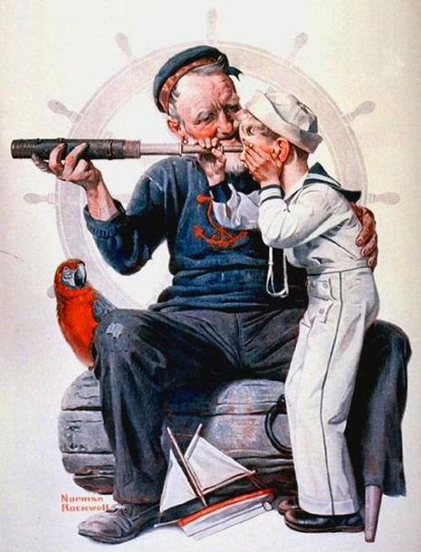 Setting One's Sights-Norman Rockwell