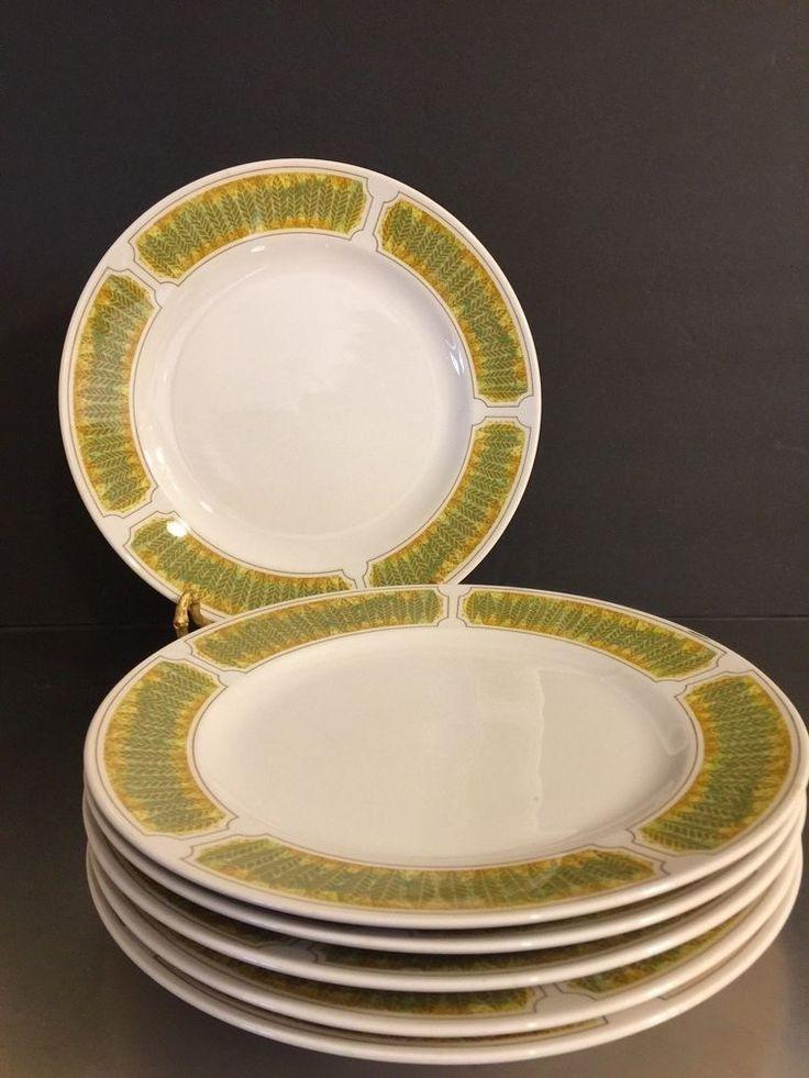 Franciscan Ware Whitestone Hawaii Pattern Made Japan 6 Dinner Plates Tiki Vibe #FranciscanWhitestone #MidCentury