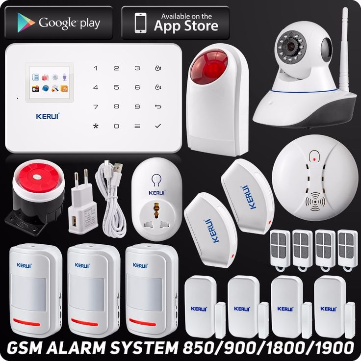 163.79$  Buy here - http://aix2z.worlditems.win/all/product.php?id=32674311669 - Kerui Wireless Wired GSM Home Security Alarm System  l ISO Android APP TFT Touch Panel Security Alarm System Wifi IP Camera