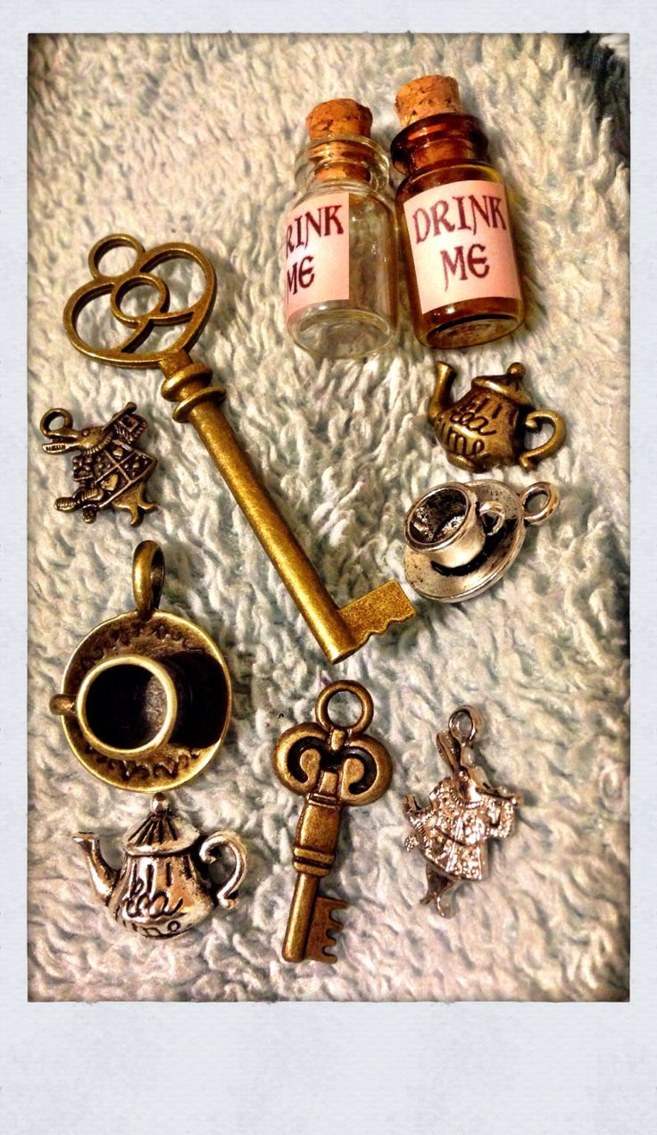 Alice in Wonderland charms, you can buy these on amazon maybe?