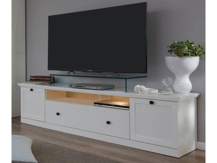 Tv Lowboard Baxter In Weiss Landhaus 177 Cm Flat Screen Tvs