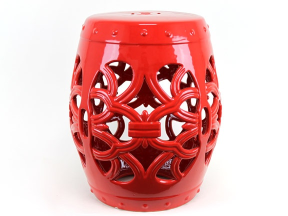 Urban Trends 18  Red Ceramic Garden Stools with Open Work Finish $195  sc 1 st  Pinterest & 23 best Garden Stool Finds: 3-in-1 Stool/Table/Ottoman! images on ... islam-shia.org