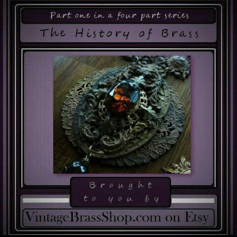 WHAT IS BRASS?  A alloy(mixture) of copper & zinc, brass can vary from a yellow/gold, to green, to a redish(copper) tone. The more copper, the more red/brown tone...the more zinc, the more yellow/green tone.  -Vintage Brass Shop  #history #brass #etsy