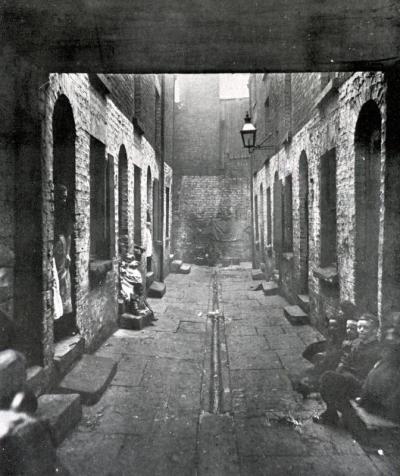 Bostock Street Court off Scotland Road, Liverpool - 1900.