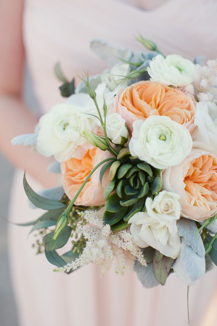 17 best ideas about rose bridal bouquet on pinterest white rose bouquet bride flowers and - Peach garden rose ...