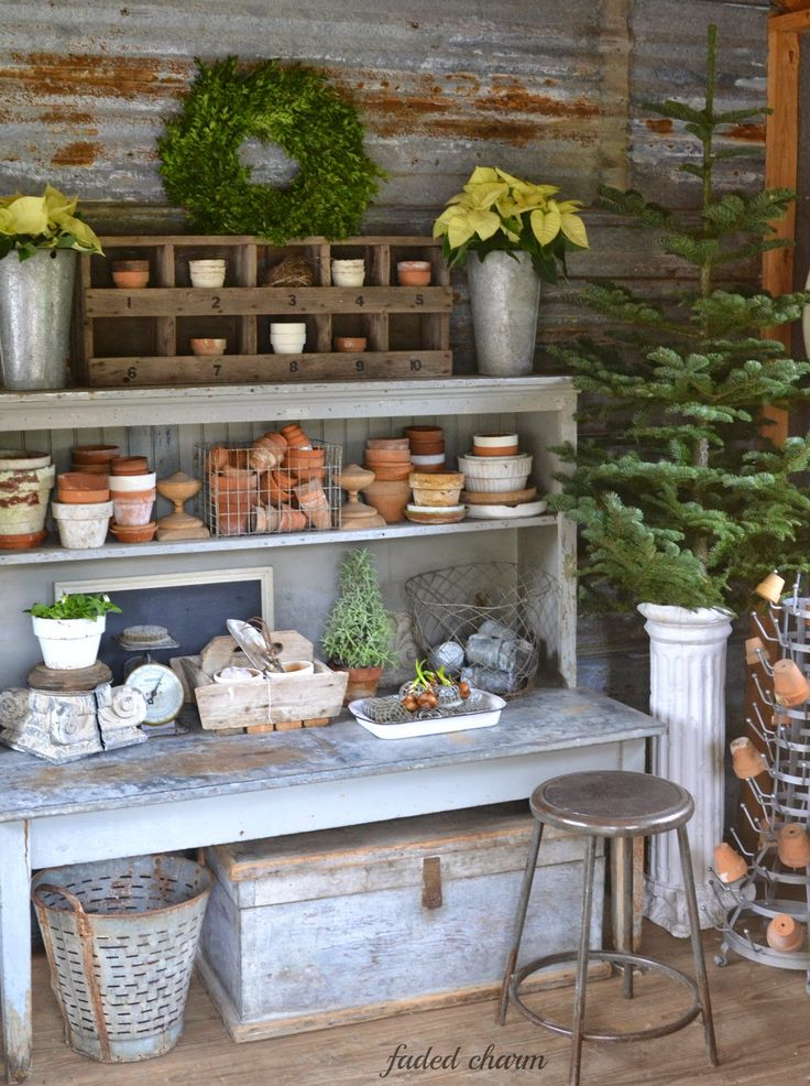 Faded Charm Holiday Garden House Part 2 For The