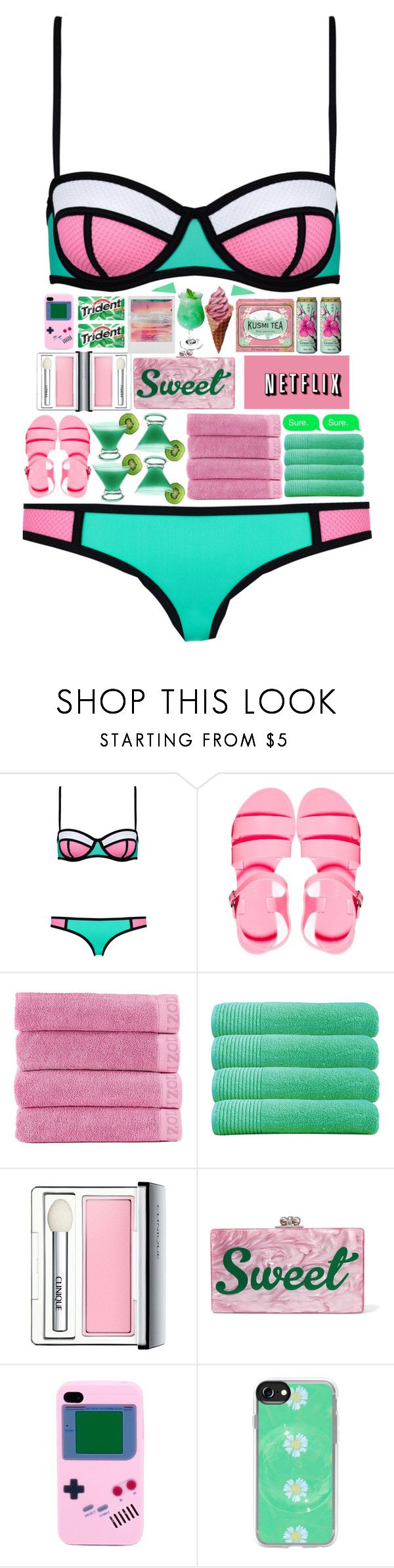 """""""5747"""" by tiffanyelinor ❤ liked on Polyvore featuring JuJu, FRUIT, Izod, Olivier Desforges, xO Design, Clinique, Edie Parker, Aime, Casetify and Kusmi Tea"""