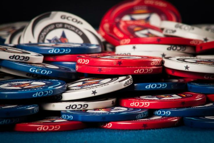 Chips of the German Championship of Poker