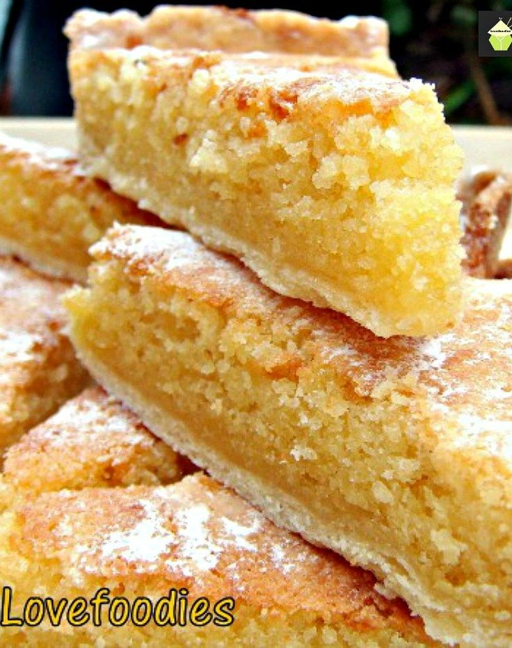 Lemon Frangipane. This is a really nice coffee time cake to make. Goes great with a nice cup of tea! Or you can have as a dessert, warm or cold with a squirt of whipped cream or like me, a blob of vanilla ice cream! It's really yummy! Delicious! | Lovefoodies.com