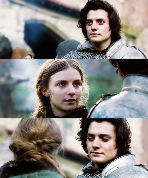 "The White Queen - ""Do you love me Anne?"" Before he leaves for knight bodyguard training"