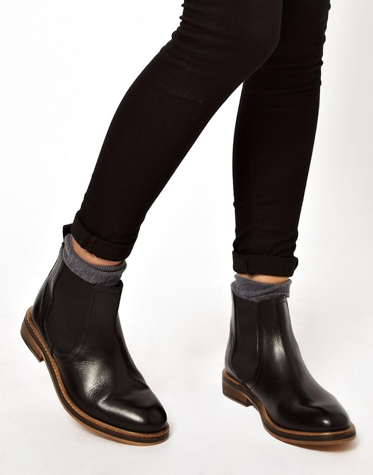 Leather Chelsea Ankle Boots.  I like how the bottoms of these are brown.