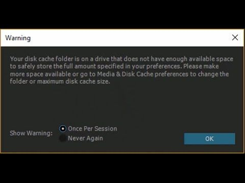 Adobe After Effect Problems - Clear Disk Cache