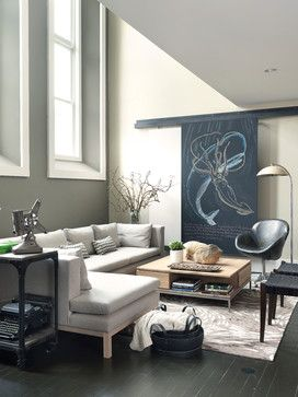 What a serene living room.....love it ♥  Gray Sectional Design Ideas, Pictures, Remodel, and Decor - page 5