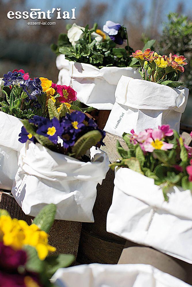 Una bella idea para tu jardin: il sacchetti en celulosa lavable de Essent'ial! en @2150idees