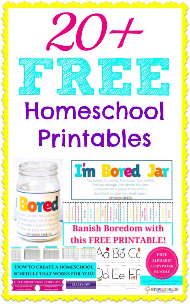 20+ FREE Homeschool Printables! Homeschool