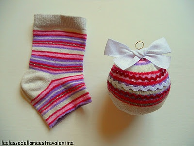 Sock ornaments...so this is where all my socks go...lol...