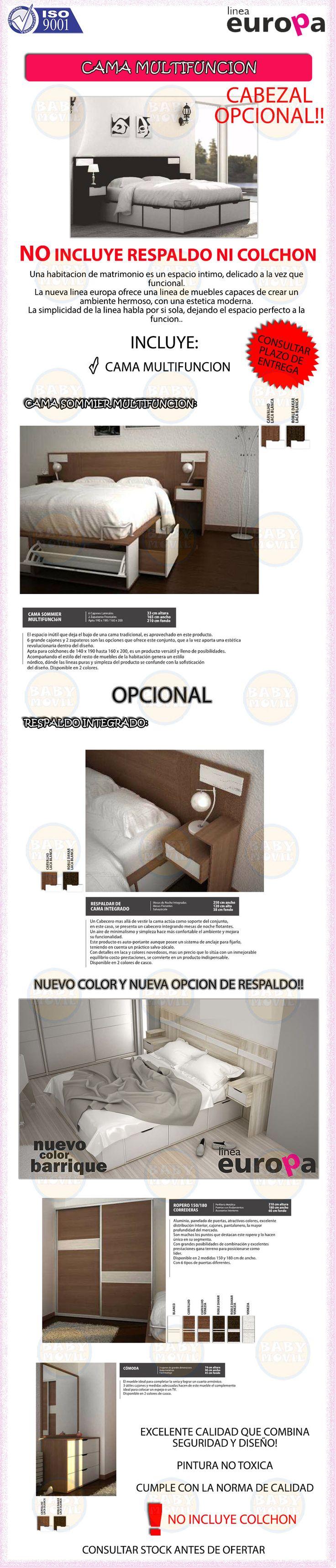 Cama 2 Plazas Multifuncion Cajones La Valenciana Babymovil - $ 6.299,00 en Mercado Libre