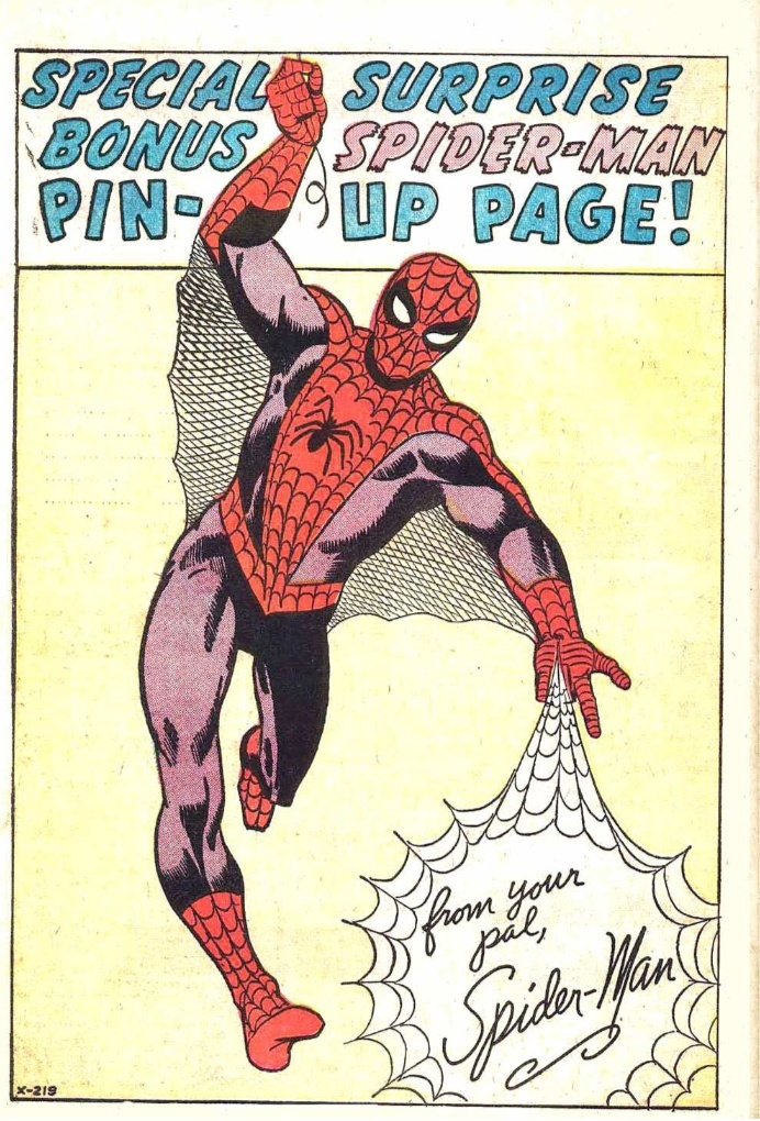 special surprise bonus spider-man pin-up page!