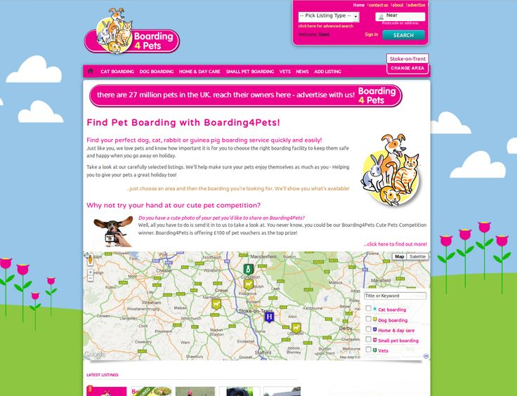 boarding4pets - a responsive pet and pet boarding site...