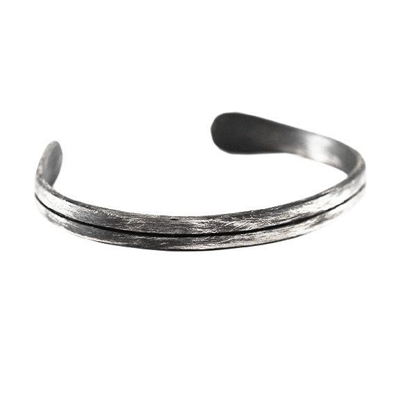 ff2356f44aa Silver bracelet cuff, handmade from 925 sterling silver. This cuff has been  oxidized and then brushed for an old matte antique finish. Mens and womens  cuffs ...