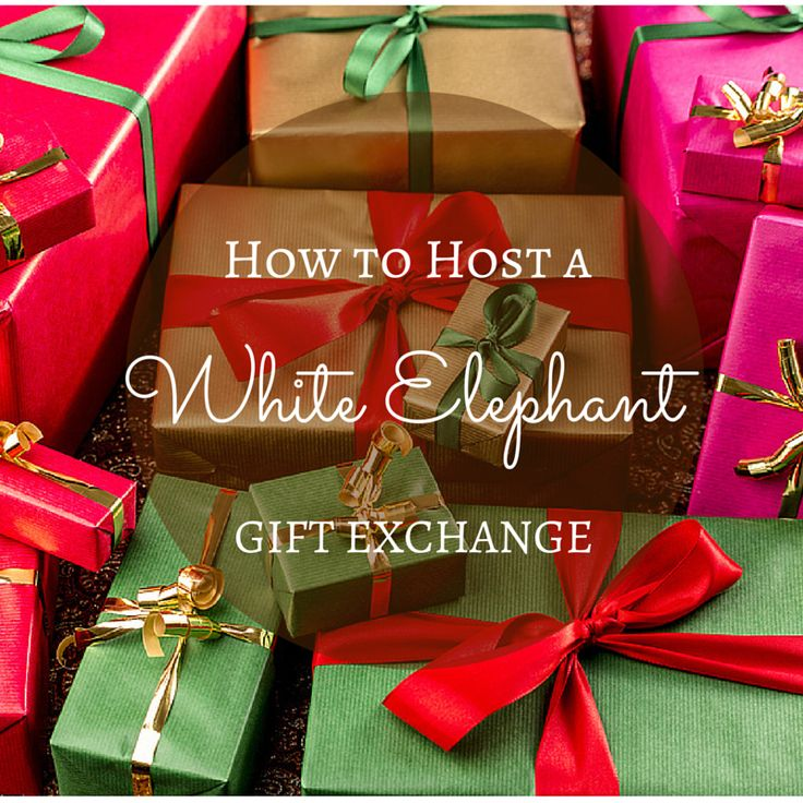 how to host a white elephant gift exchange.