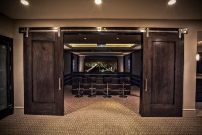 Sea Glass Contemporary Home Theater - Modern Furniture, Home Designs & Decoration Ideas