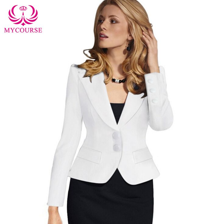 Find More Blazers Information about 2016 MYCOURSE European Style New Womens Color Blazer Jacket Suit Work Casual Basic Long Sleeve Short Blazer Solid Color Slim,High Quality blazer candy,China jacket plaid Suppliers, Cheap blazer badge from MYCOURSE on Aliexpress.com