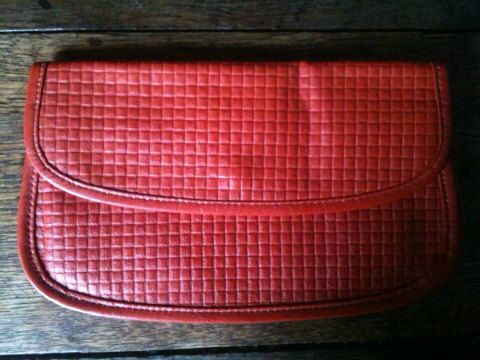 Vintage Red Waffle Purse Wallet Purchase in store here http://www.europeanvintageemporium.com/product/vintage-red-waffle-purse-wallet/