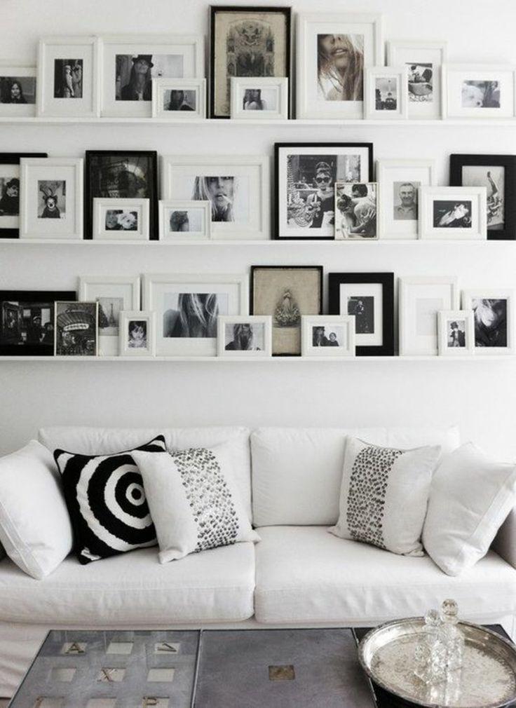 17 Best Ideas About Wohnwand Schwarz Weiß On Pinterest | Fliesen ... Deko Schwarz Weis Wohnzimmer